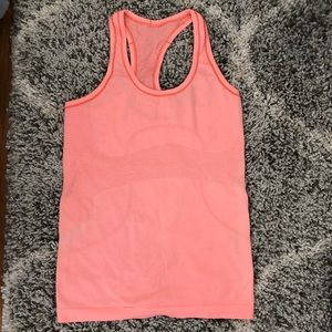 Orange Lululemon Racerback Top